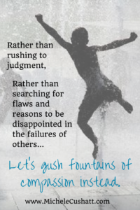 Rather than rushing to judgement (1)